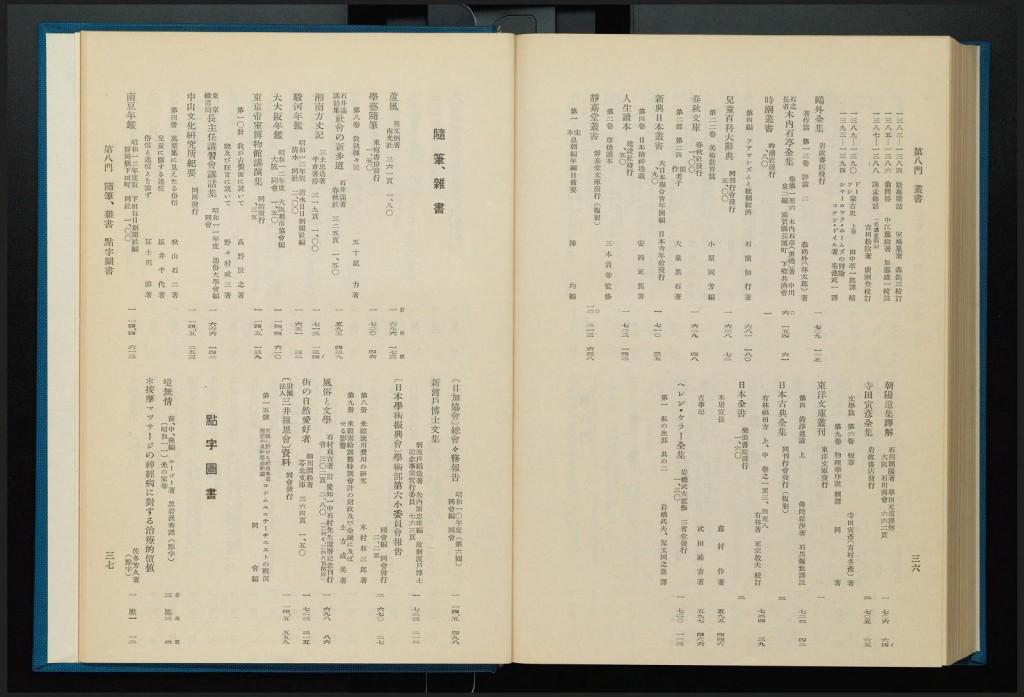 点字図書の書誌が掲載されたページその1